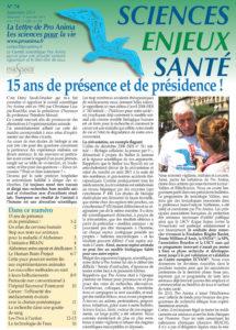 Sciences Enjeux Santé n°74—septembre 2014